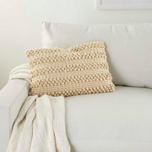 "Life Styles Dc827 Beige 14"" X 20"" Throw Pillow"