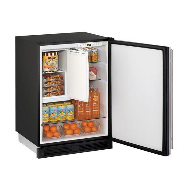 "U-Line1224rf 24"" Refrigerator/freezer With Stainless Solid Finish (115 V/60 Hz Volts /60 Hz Hz)"