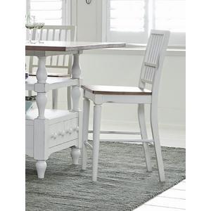 Counter Chair (2/Carton) - Light Oak/Distressed White Finish