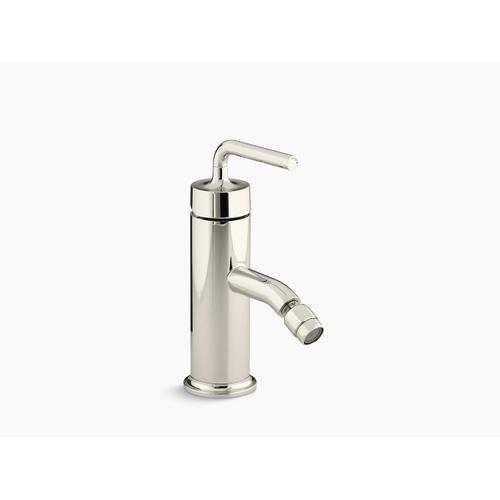 Vibrant Polished Nickel Horizontal Swivel Spray Aerator Bidet Faucet With Straight Lever Handle