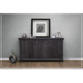 See Details - 4 Doors Console Charcoal Finish
