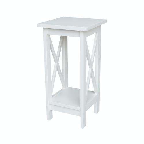 24'' X Side Plant Stand in White