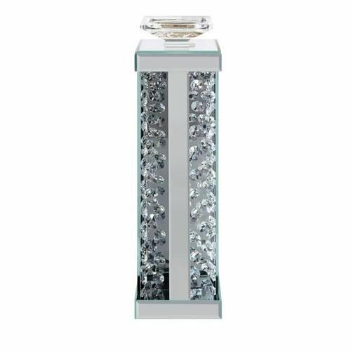 ACME Nysa Accent Candleholder (Set-2) - 97622 - Mirrored & Faux Crystals