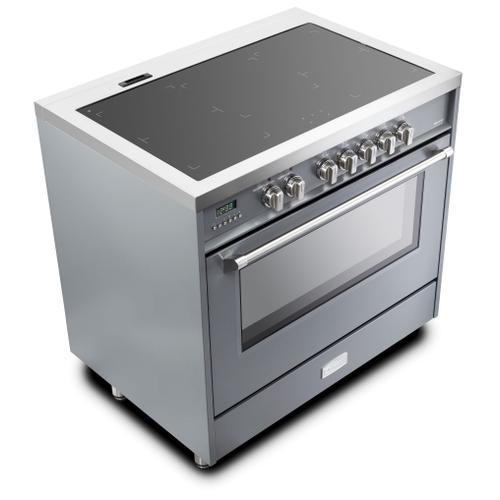 "Slate Gray 36"" Designer Induction Range"