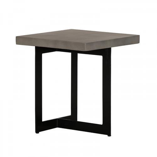 VIG Furniture - Modrest Sharon Modern Concrete & Black Metal End Table