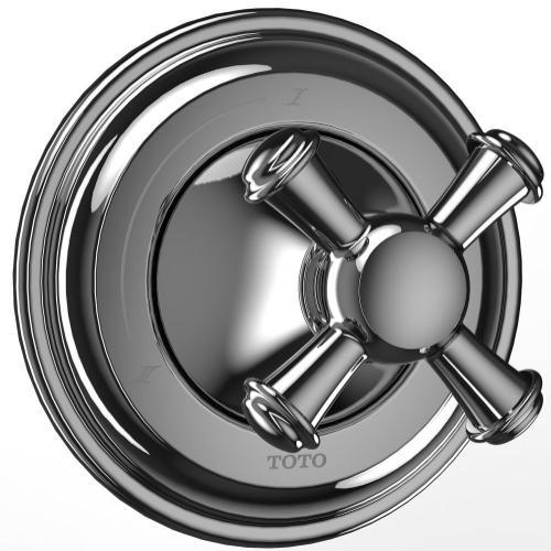 Vivian™ Two-Way Diverter Trim - Cross Handle - Polished Chrome Finish