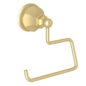 Palladian Wall Mount Open Toilet Paper Holder - Satin Unlacquered Brass