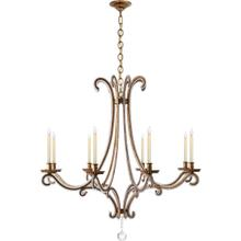 View Product - E. F. Chapman Oslo 8 Light 43 inch Gilded Iron Chandelier Ceiling Light