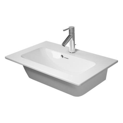Duravit - Me By Starck Furniture Washbasin Compact 2 Faucet Holes Pre-marked With Large Distance Between Faucets