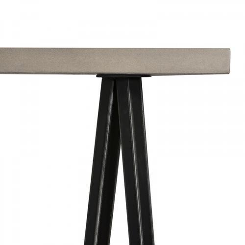 VIG Furniture - Modrest Richmond Modern Concrete & Black Metal Console Table