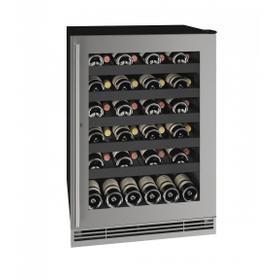 "Hwc124 24"" Wine Refrigerator With Stainless Frame Finish (115v/60 Hz Volts /60 Hz Hz)"