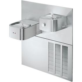 Elkay Soft Sides Fountain Bi-Level Reverse ADA Hands-Free, Non-Filtered 8 GPH Stainless