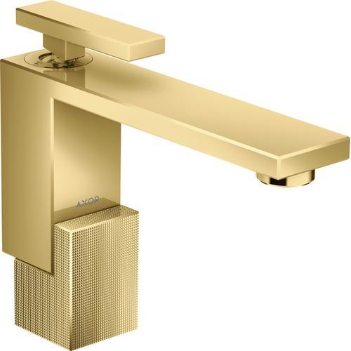 Polished Gold Optic Single-Hole Faucet 130 - Diamond Cut, 1.2 GPM