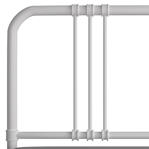 Dakota King Headboard With Frame, Soft White