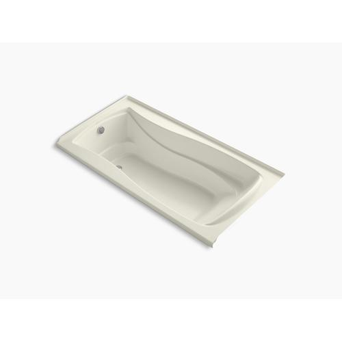 "Biscuit 72"" X 36"" Integral Flange Heated Bubblemassage Air Bath With Bask Heated Surface and Left-hand Drain"