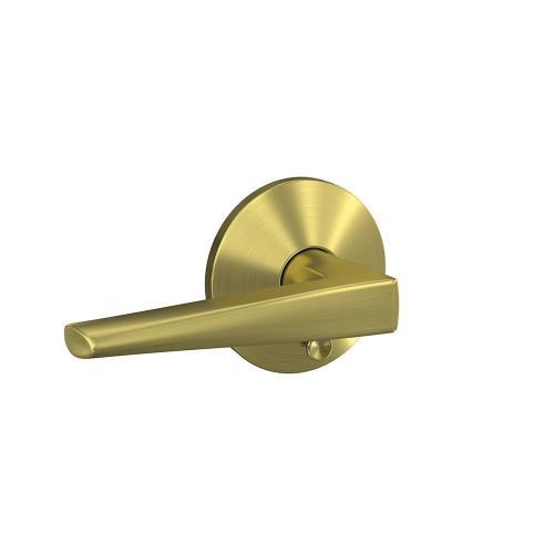 Custom Eller Lever with Kinsler Trim Hall-Closet and Bed-Bath Lock - Satin Brass