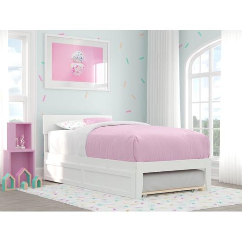Atlantic Furniture - Boston Twin Bed with Twin Trundle in White