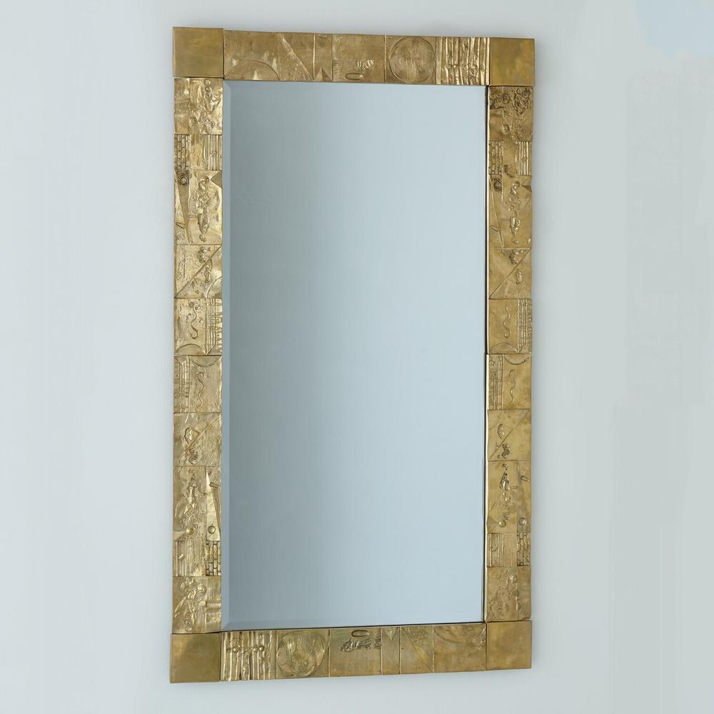 See Details - Pimlico Mirror-Brass