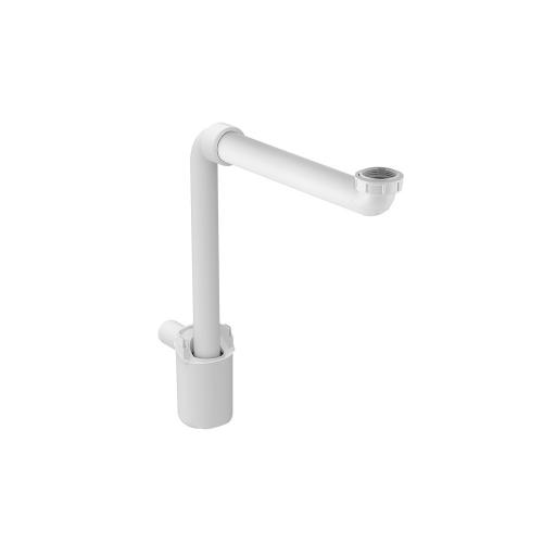 "Lavatory Sink Traps for wall mounted vanities Molded plastic - White Material - Finish 1-9/16"" (40 mm) Outlet Tube Size G1-1/4"" Sink Connection Thread"