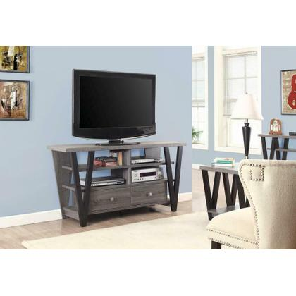 See Details - Modern Two-tone Trapezoid TV Console