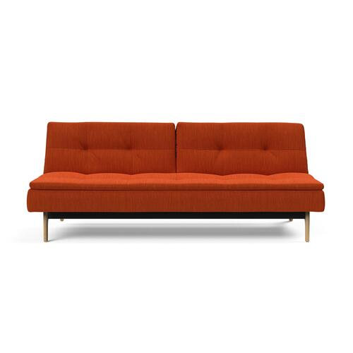 "DUBLEXO SOFA, 45""X83""/SP EIK SOFA METAL BARS/EIK LEGS, LACQUERED OAK"