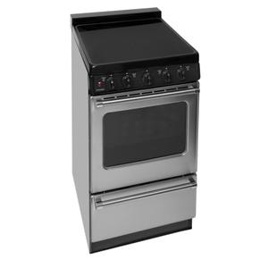 Premier 20 in. Freestanding Smooth Top Electric Range in Stainless Steel