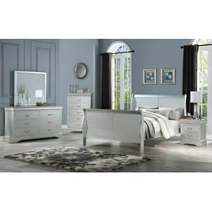 ACME Louis Philippe III Eastern King Bed - 26697EK - Platinum