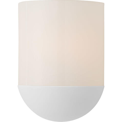 Barbara Barry Crescent LED 8 inch Matte White Sconce Wall Light, Small