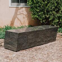 Quad Bench Antique Gray Limestone
