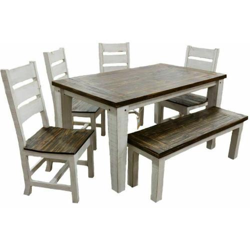 Million Dollar Rustic - Weathered White Econo 5' Dining