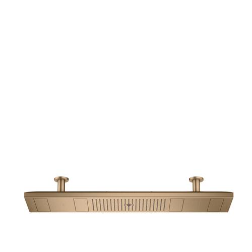 Brushed Bronze ShowerHeaven 1200/300 4jet with lighting 2700 K