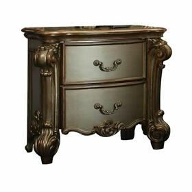 ACME Vendome Nightstand - 23003 - Gold Patina & Bone