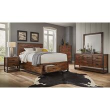 Loftworks Queen Footboard W/2 Storage Drawers