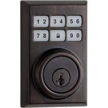 View Product - 910 SmartCode Contemporary Electronic Deadbolt with Zigbee Technology - Venetian Bronze