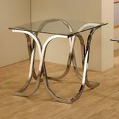 Contemporary Nickel End Table
