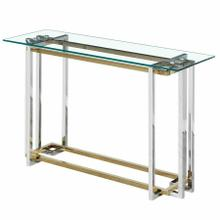 See Details - Florina Console Table in Silver and Gold