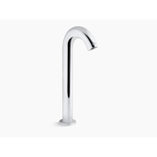 Polished Chrome Touchless Faucet With Kinesis Sensor Technology and Temperature Mixer, Dc-powered