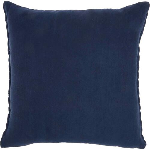 "Life Styles Et299 Navy 18"" X 18"" Throw Pillow"