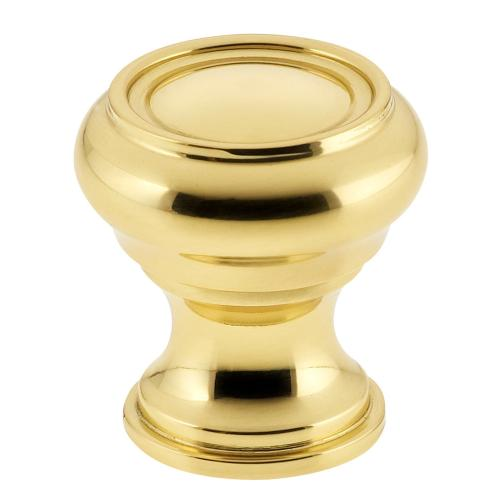 Traditional Cabinet Knob in US3 (Polished Brass, Lacquered)