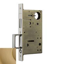 Vintage Brass 8602 Pocket Door Lock with Pull