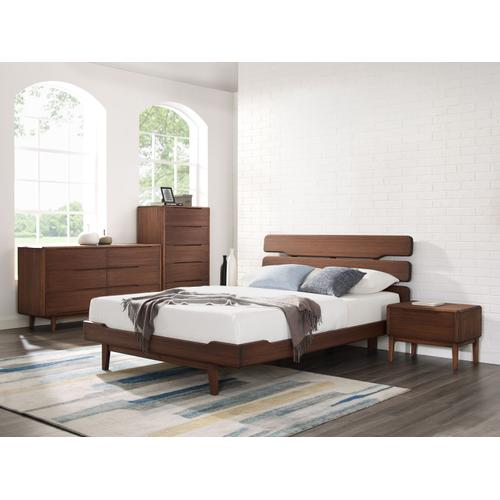 Currant Queen Platform Bed, Oiled Walnut