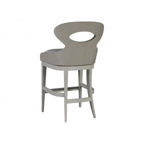 Zeitgeist Linen Upholstered Swivel Barstool
