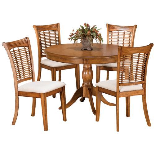 Bayberry 5 Piece Round Dining Set - Oak