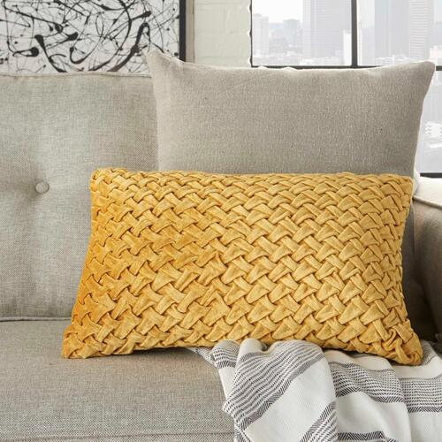 "Life Styles Ac234 Gold 12"" X 20"" Throw Pillow"