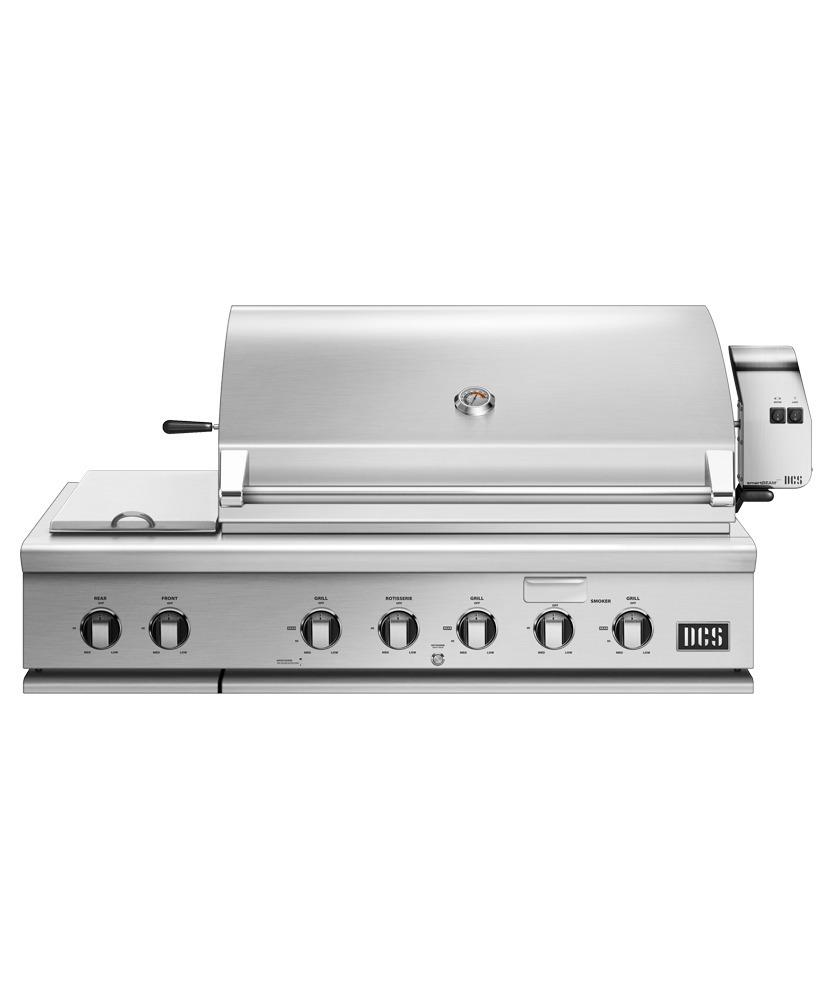 """Dcs48"""" Grill With Integrated Side Burners, Natural Gas"""