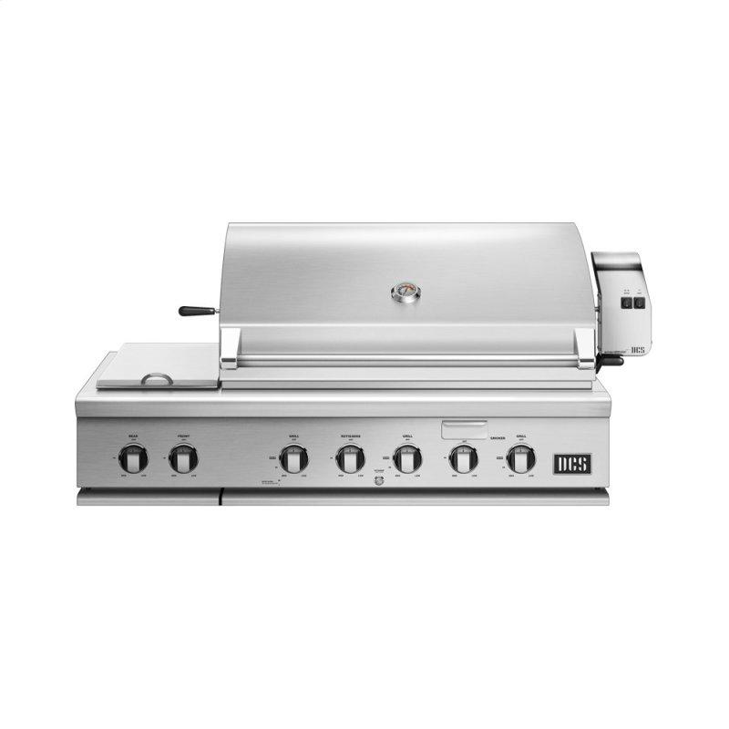 """48"""" Grill With Integrated Side Burners, Natural Gas"""