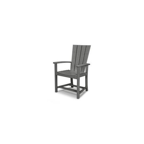 Polywood Furnishings - Quattro Adirondack Dining Chair in Slate Grey