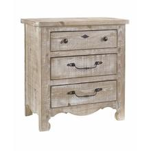 See Details - Nightstand - Chalk Finish