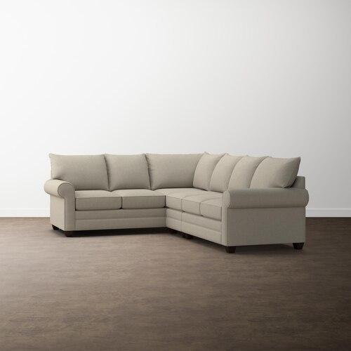 Straw Alexander Roll Arm Large L Sectional