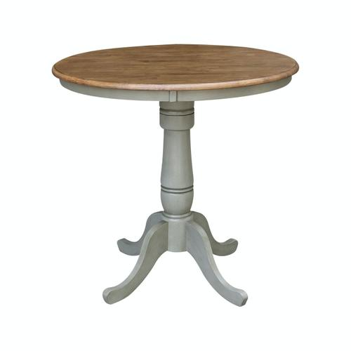 """36"""" Pedestal Table in Hickory / Stone"""